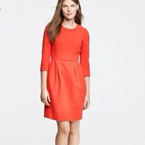 J.Crew Bright Red Teddie Crepe Dress 0